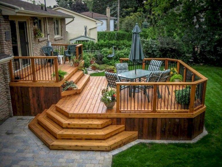 34+ Comfy Backyard Patio Deck Designs Ideas for Relaxing .