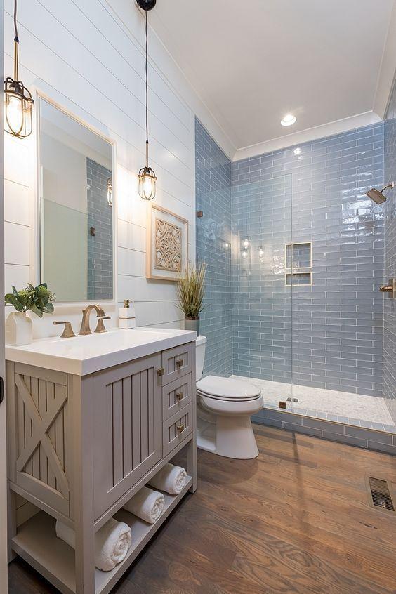 30 Elegant Farmhouse Bathroom Ideas 2020 (Simple But Beautiful .