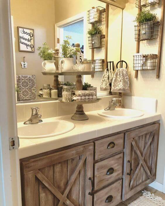 Rustic Bathroom Farmhouse Design Decor   Ideas