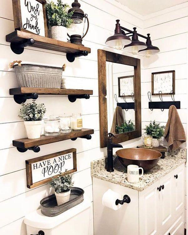 Home Ideas Review | Rustic bathroom decor, Small bathroom decor .
