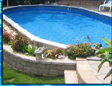 Semi Inground Pool for the Summer