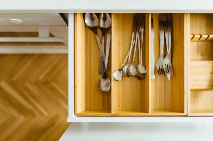 Maximizing a small kitchen: 7 cabinet and drawer storage hacks .