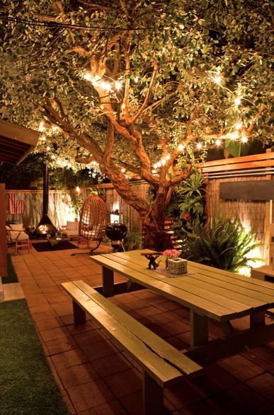 Stunning Backyard Lighting Design
