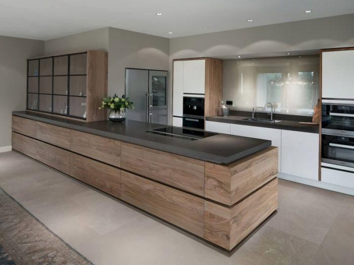 12 Amazing Modern Kitchen Design and Layout Ideas - EnthusiastHo