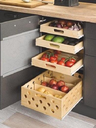 Stunning modern kitchen pantry organization 22 » binarung.c