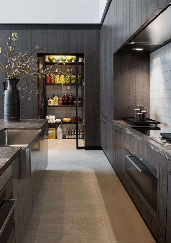 Stunning Modern Kitchen Pantry   Organization