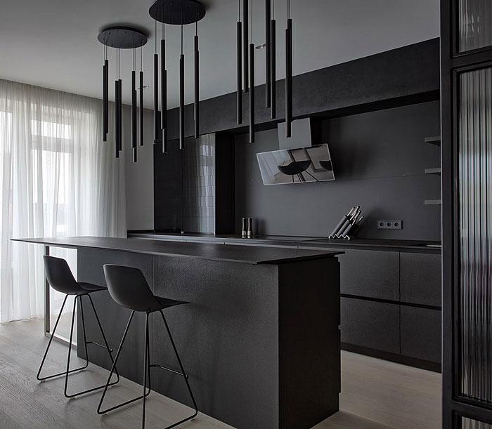Stylish Black Kitchen Design Ideas
