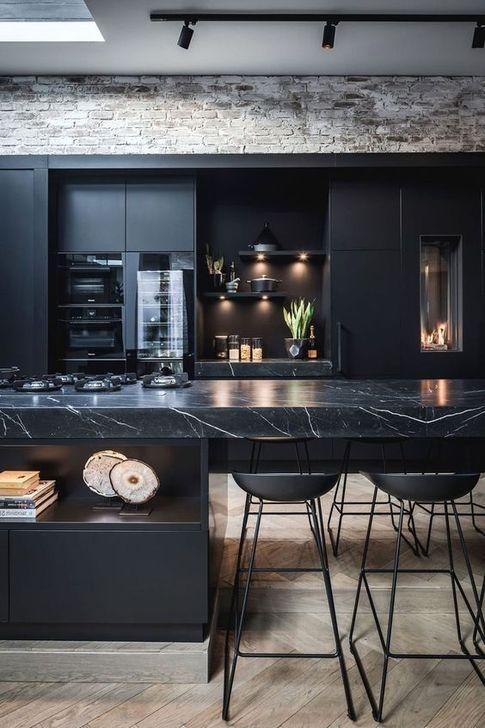 47 Elegant Black Kitchen Design Ideas You Have To Know | Interior .