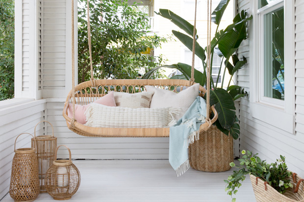 15 Hammocks & Porch Swings For Lazy Summer Afternoons - House & Ho