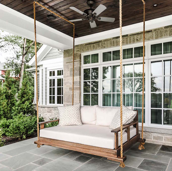 Summer Porches and Wooden Swings