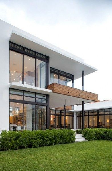 Trendy House Big Windows Dream Homes Balconies Ideas | House .