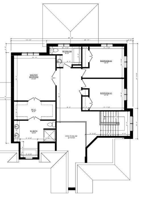 rework upstairs floor plan for laundry ro