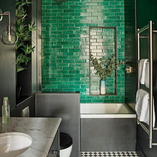 Eclectic Bathroom Design by Romilly Turner Design seen at Private .