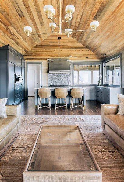 Top 60 Best Wood Ceiling Ideas - Wooden Interior Designs | Living .
