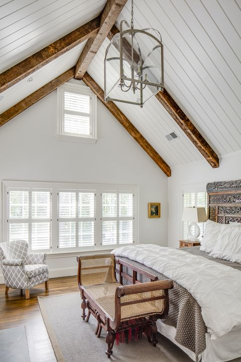 Captivating Bedrooms with Wood Ceilin