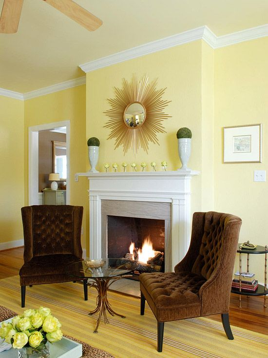 How to Prep a Room for Paint   Yellow walls living room, Yellow .