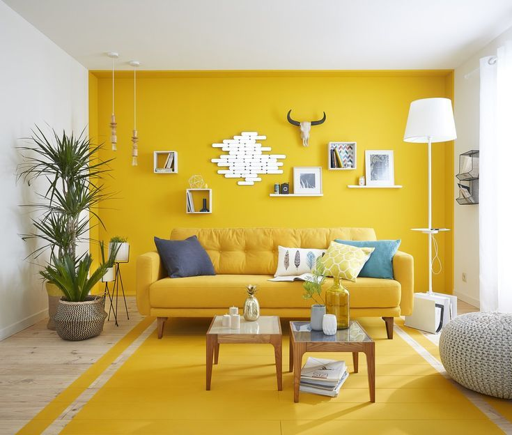 Yellow Color Ideas For Living Room   Decoration